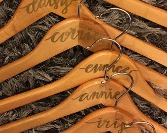 Custom Bride & Bridesmaid Hangers (set of 6)