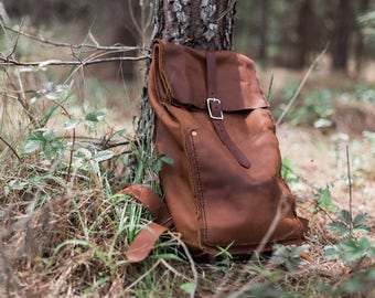 Maxwell Leather Backpack