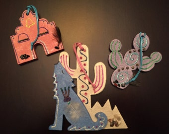 Darling Handmade Southwestern Ornaments