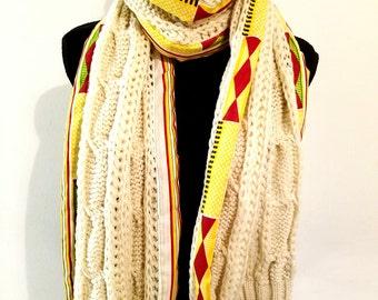 Ankara crochet shawl. Ankara winter shawl. Winter shawl.  Crochet shawl
