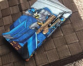 Checkbook Cover Batman Style! Geeky Comic Book Checkbook Register Holder