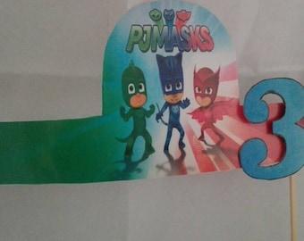 Cake topper PJ masks superpajamas for birthday cake baby/Toddler