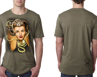 Owl Woman - Men's t-shirt/tattoo design/tattoo shop/owl