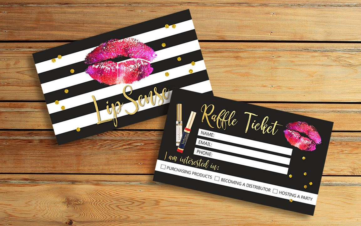 Lipsense raffle ticket cards customer info forms senegence zoom magicingreecefo Choice Image