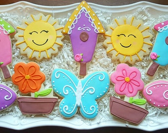 Assorted Spring Cookies one dozen Party Favors