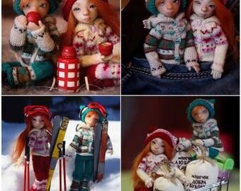"Mouse Lidia Snul/Lati white SP/PukiPuki ""Winter set""  Pre-order"