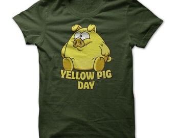 YELLOW PIG DAY T-shirt.Mathematicians Day.Yellow Pig Cake.Yellow Pig Carols Tee.