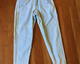 Unleaded 1970s Jeans Straight Leg Button up High Waist Pants