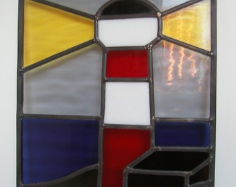 Glass in lead lighthouse