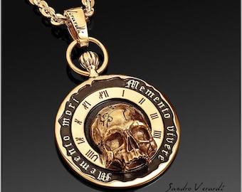 Skull skull pendant bikers from SANDRO VERARDI - Memento mori / N04-G