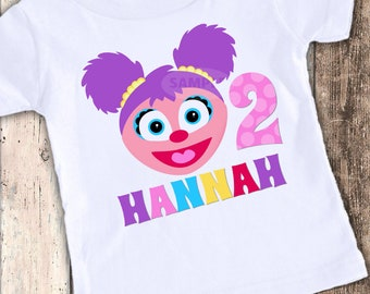 Abby Cadabby Inspired custom designed birthday t shirt tshirt personalized