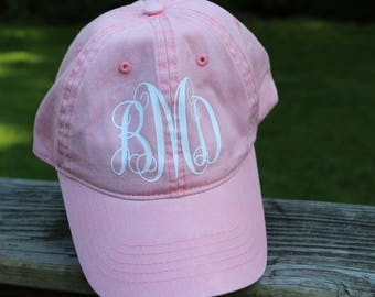 Women's Monogrammed Baseball Hats