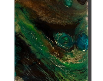 AMAZON painting abstract abstraction table canvas resin home decoration inks