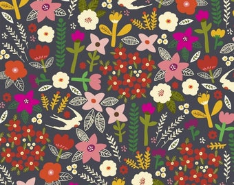 Swallows Fabric from Windham's Fabrics, Petite Fleur Fabric Collection,  100 % cotton, Quilting, Fabrics, Sewing