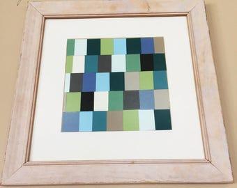 Patterned Paint Chip Artwork