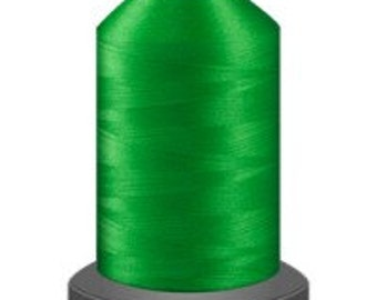 sewing thread, turf bright green thread, glide trilobal polyester no 40, Tex 27, quilting thread, 1000m cone