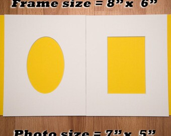 Photo Mount Pair | Oval Aperture | Rectangle Aperture | 8X6 | 7x5 | 6x4 | 5x3.5 | Photo Frame | Photo Mounts | Picture Frame