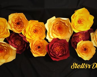 PAPER FLOWERS, Lovely Set of 12