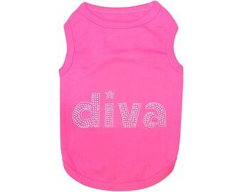 DIVA Dog T-Shirt, Dog Clothes, Pet Shirts