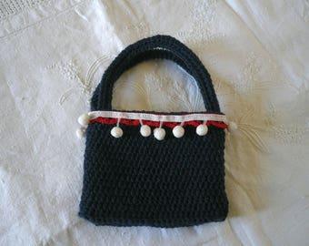 Little Navy Crochet Bag