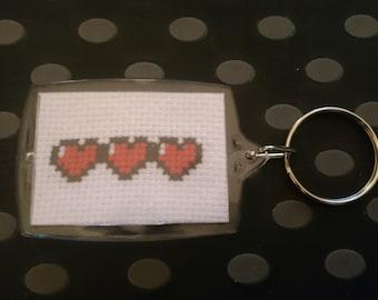 Zelda Hearts Lifebars Handmade Keyring Keychain