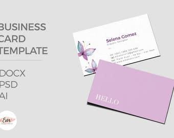 Elegant business card template / creative business card / modern business card / personalized busieness card