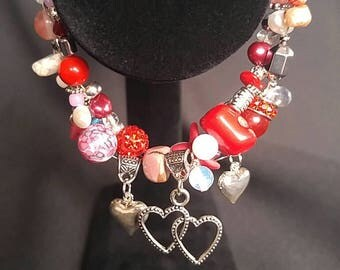 Queen of Hearts Bracelet and Earrings