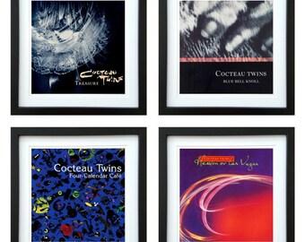Cocteau Twins - Framed Album Art - Set of 4 Images