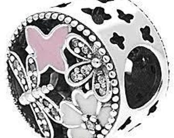 Pandora Charms Authentic Springtime Charm, Mixed Enamels & Clear CZ