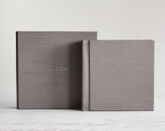 Flush Mount Linen Album 6x6