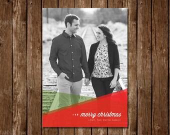 Geometric Christmas/Holiday Photo Card - DIY Printable PDF