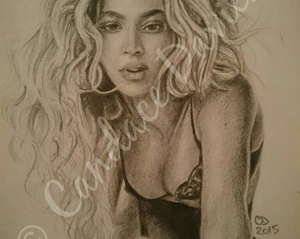 Beyonce Wall Art Print | From the Video Rocket | Black and White | Musician | By Artist Candace