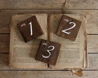 Rustic Table Number - Wedding Table Numbers - Rustic Wedding Signs - Weddings Decor - Wooden Table Numbers for Wedding  - Boho Wedding