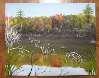 Lake Marsh in the Fall