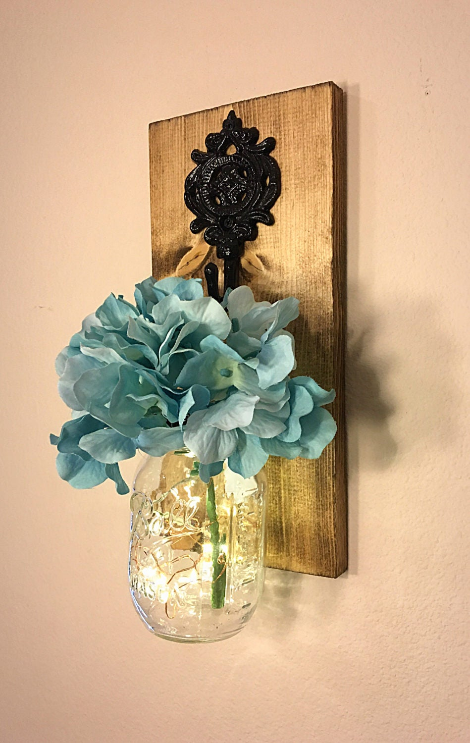 Mason Jar Wall Decor How To : Mason jar sconce wall decor
