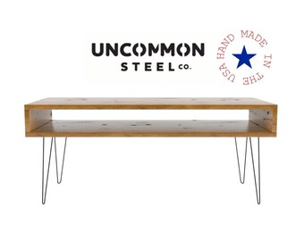 Reclaimed Wood Desk, Computer Desk, Hairpin Desk, Solid Wood Desk, Modern Desk, Hairpin Leg Desk, Industrial Desk, Barn Wood Desk Distressed