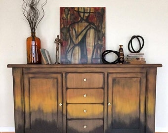 SOLD Copper Ombre  Buffet