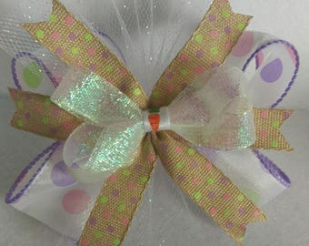 5-inch boutique Easter spring bow