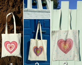 Colourful handpainted shopping bag