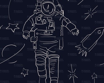 The Astronaut Fabric by AgatheSTS