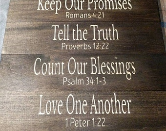 In This Family 7 board scripture quotes