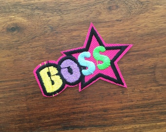 Boss - Iron on Appliqué Patch