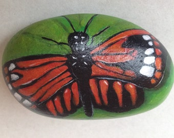 Hand painted pebble butterfly