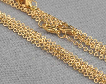 18k yellow solid gold plate chain
