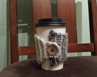 Cup Cozy - Cream & black