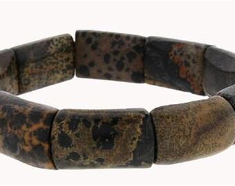 Small Section Stretch Bracelet - Painted Jasper