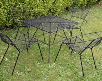 John Salterini Styled Radar Chairs Mid Century  Patio Set