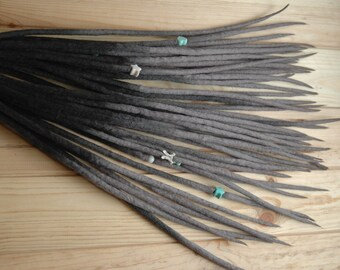 140 Wool dreads full set DE dreadlocks extensions double ended