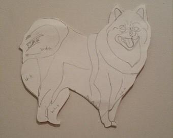 Personalised Pomeranian Pattern