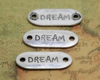 15pcs Dream Charms silver tone Dream Connector Charm Pendants 13x33mm ASD0554